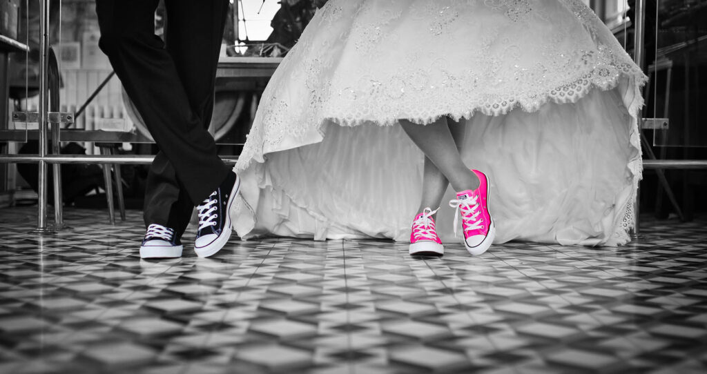 Wedding pink shoes